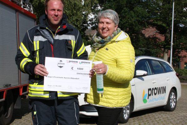 Jugendfeuerwehr in Aurich-Oldendorf freut sich über Zuwendung